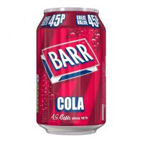 Barrs 45p cans 24 x 330ml Cola